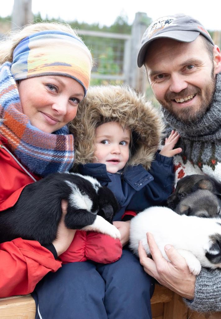 Trine, Øyvind og Vilja